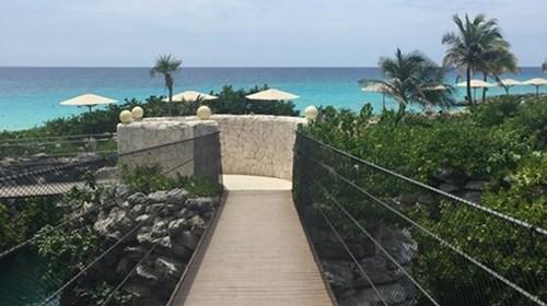Hotel Xcaret - bridge to paradise!