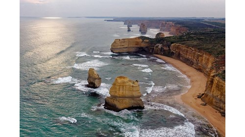 The 12 Apostles as viewed from my helicopter tour.