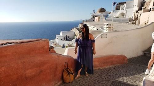 When in Santorini Greece