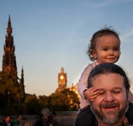 My Daughter and I in Edinburgh