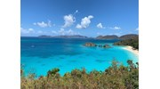 Beautiful Caribbean Sea off the island of St John