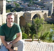 Taking a moment in Toledo, Spain