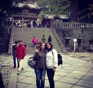 My daughter and I at the temples in Nikko, UNESCO