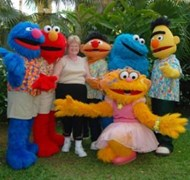 Beaches Negril with the original Sesame Characters
