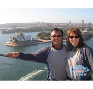 View from the top of the Sydney Harbour Bridge!
