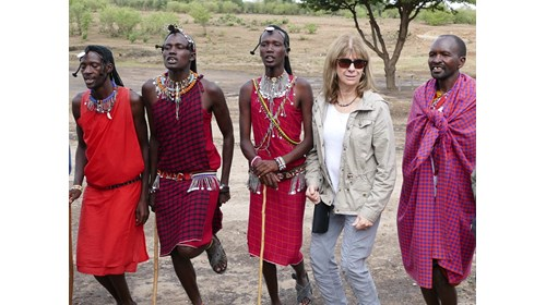 Jumping with Maasai warriors in Kenya