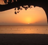 Sunset on 7 Mile Beach in Negril, Jamaica