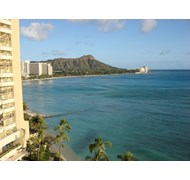 View from my Sheraton Waikiki Hotel balcony in Hon