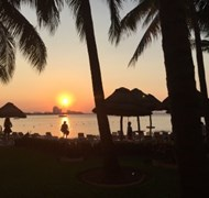 Sunset from Dreams Sands Cancun