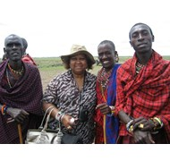 Me with 3 Massai Warriors in Kenya
