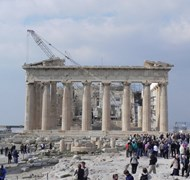 The Parthenon in Athens, Greece was under construc
