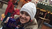Drinking Gluhwein at the Christmas Market!