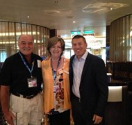 Jeannell and Mike Charman on the Norwegian Escape