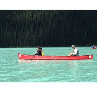 Canoeing on Lake Louise August 2016