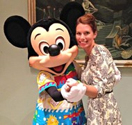 Dancing with my pal Mickey!