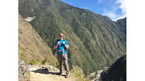 Hiking along the Inca Trail to Machu Picchu