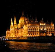 Waltzing on the Danube in front of Hungarian Parli