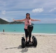 Here I am on a Segway in Sint Maarten!