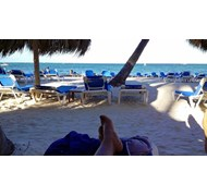 I love relaxing on the beach in Punta Cana, Domini