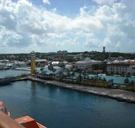 Morning view of port in Nassau, Bahamas