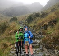 Wendy and Ann on the Inca Trail