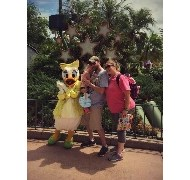 My daughter and husband's first time at Disney Wor