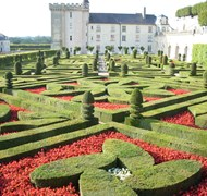 Chateau Villandry Gardens in Loire Valley, France
