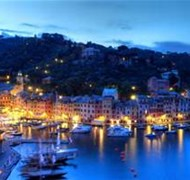 Portofino, Italy at night is a sight to behold!