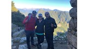 At the Sungate with our Inca Trail Guides