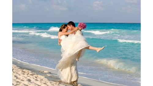 Beach wedding, Riviera Maya Mexico