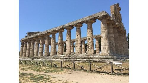 Exploring the Greek Temples in Paestum Italy.