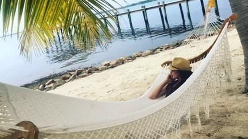 Taking in easy in Belize!