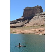 Paddle boarding on Lake Powell
