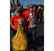 My family and I celebrating Halloween at Mickey's