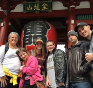 My kids and I exploring Japan