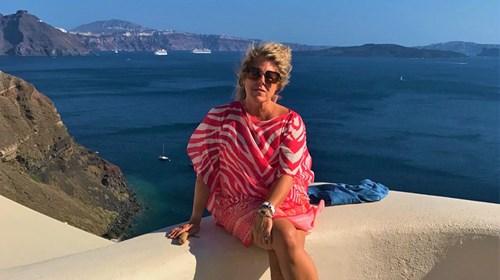 Lisa in Santorini, Greece