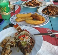 Taken in Black River, Jamaican - Jerk Chicken, Fri