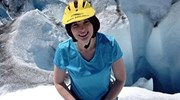 Ice climbing on Knik Glacier, Matanuska Valley, AK