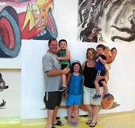 My family at the Art of Animation Resort at Disney