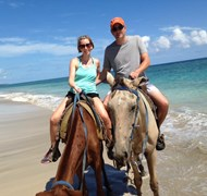 Horse back riding in Punta Cana, Dominician Republ