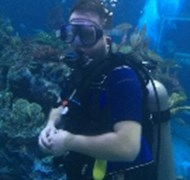 Scuba diving in the Living Seas in Epcot.
