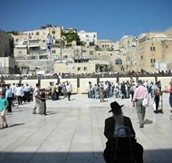 Jerusalem looking from the wailing wall toward the