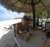 Beaching in Cozumel, Mexico
