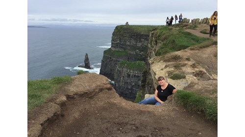 Hanging out on the Cliffs of Moore in Ireland