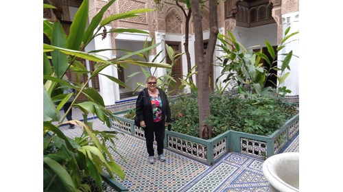 Here I am in the Bahia Palace,Marrakesh, Morocco