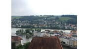 Beautiful Town of Passau Along the Danube