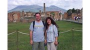 Our Visit to Pompeii with Vesuvius in the back!