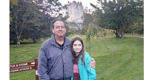 My daughter and I in Cork, Ireland