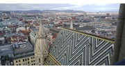 Top of St Stephen's Cathedral in Vienna, Austria