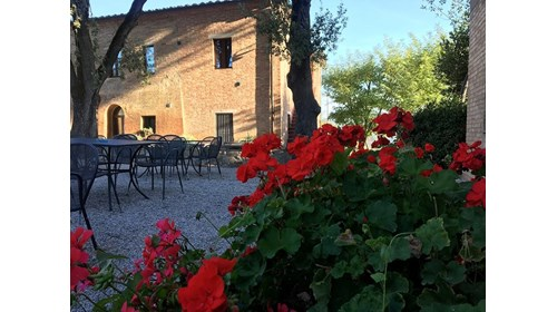 A Tuscan agriturismo outside of Buonconvento.
